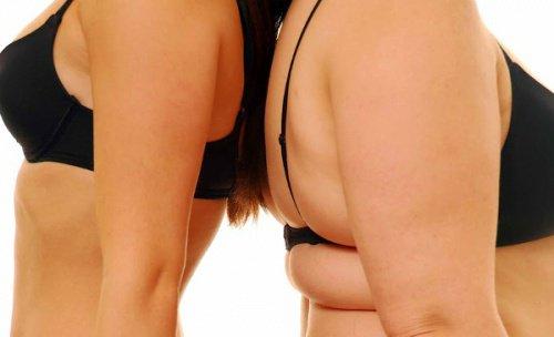 толстая и стройная