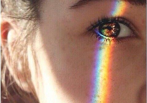 радуга на лице