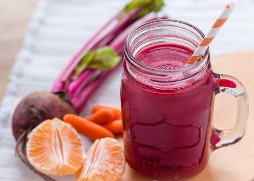 морковь и свекла - смузи