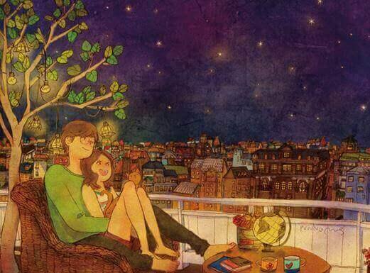 ночь с балкона