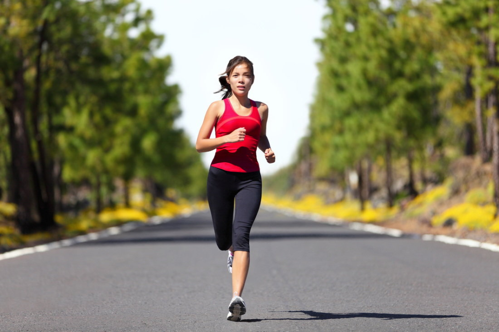 женский бег
