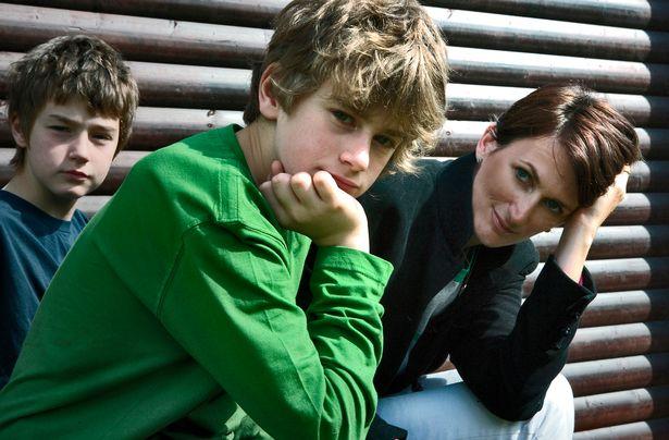 Лаура Джеймс с детьми