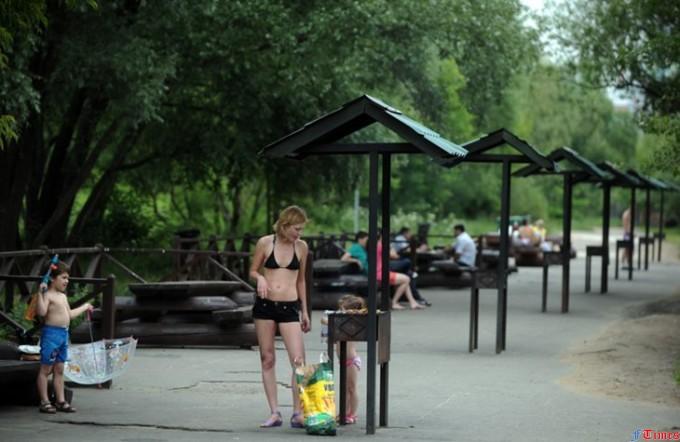 шашлыки в московском парке