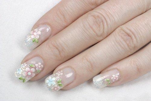 белые акриловые ногти
