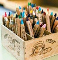Коробка цветных карандашей
