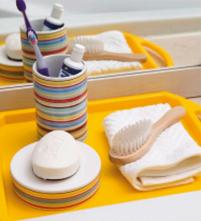 детские забная щетка и мыло