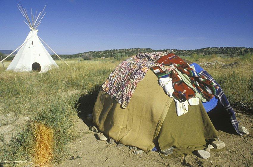 Традиционное жилье американских индейцев