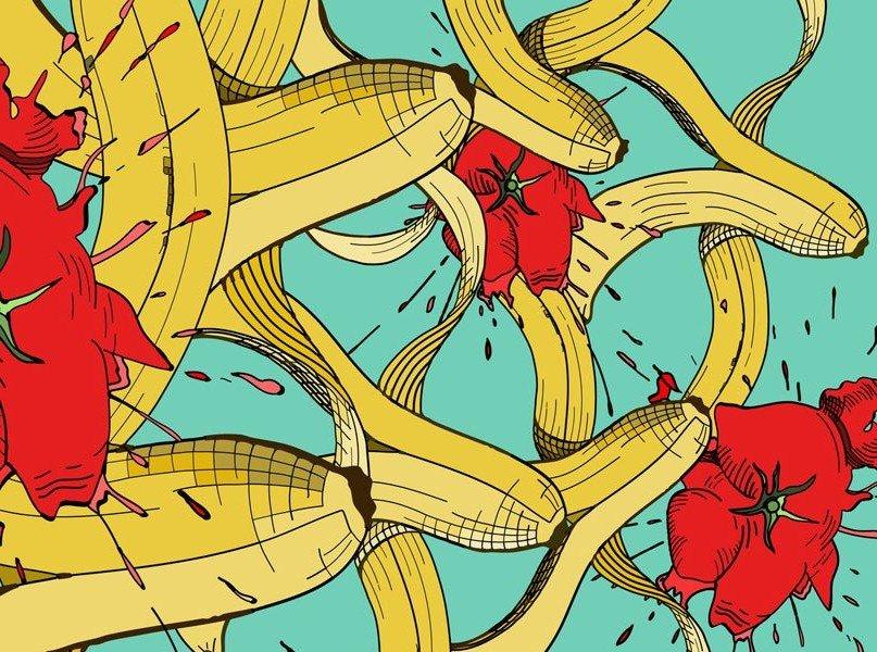 бананы и помидоры