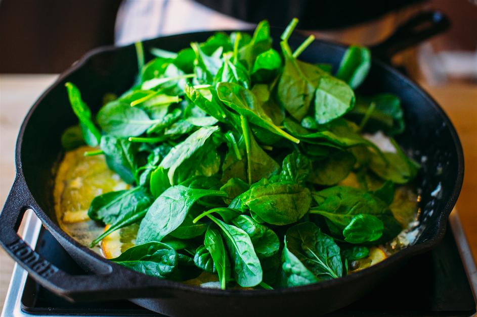 цитрусовые и шпинат
