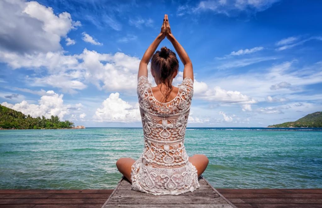женщина йога