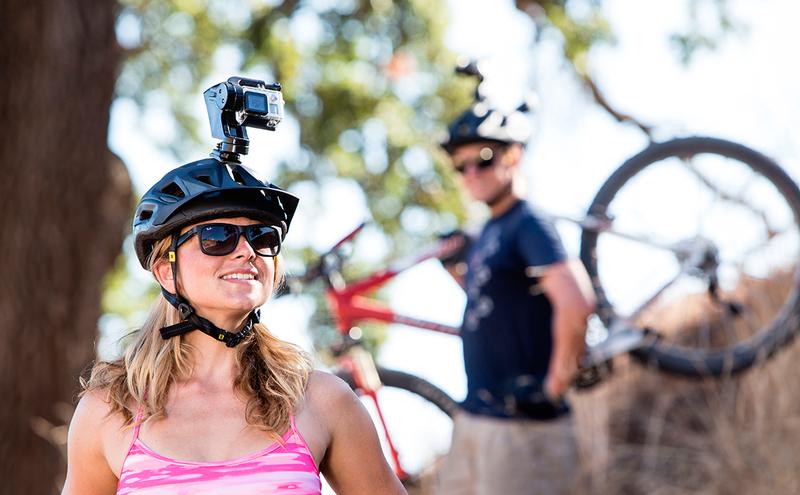 Горный велосипед и экшн-камера