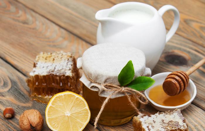 мед молоко и лимон
