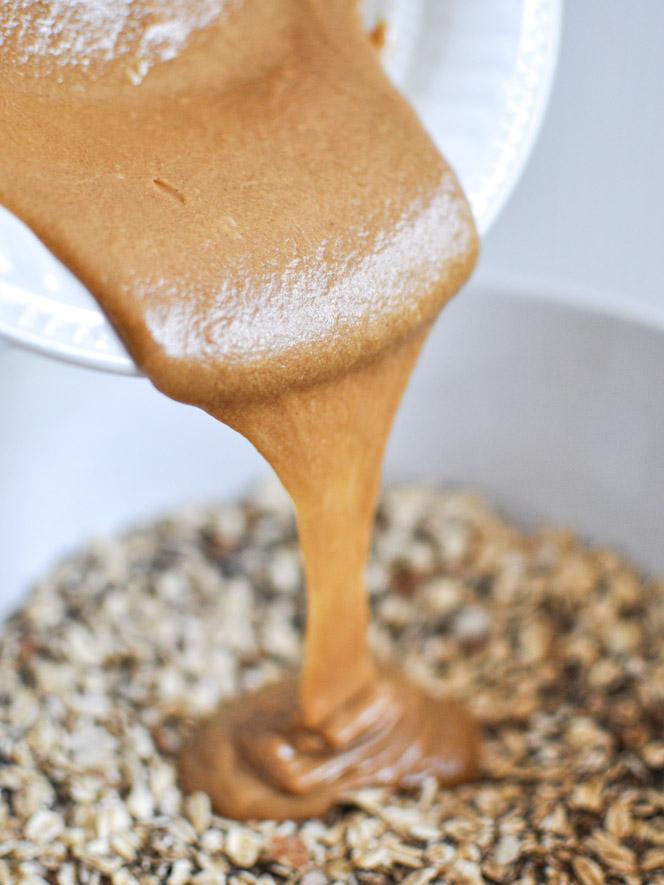 Овес и арахисовое масло