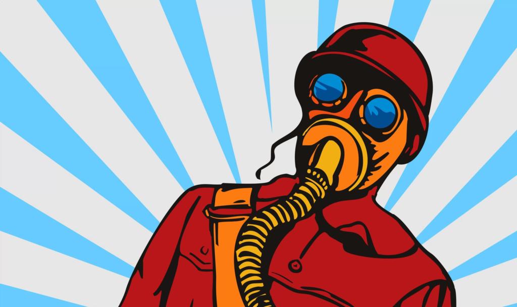 кишечные газы в противогазе