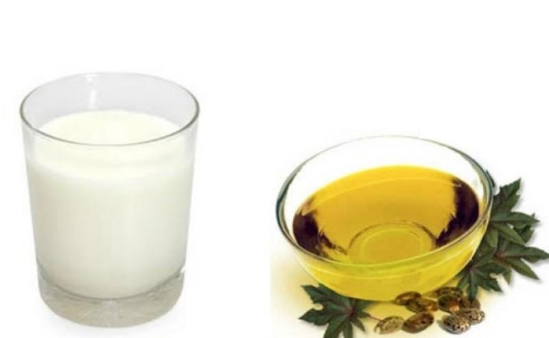Касторовое масло и молоко