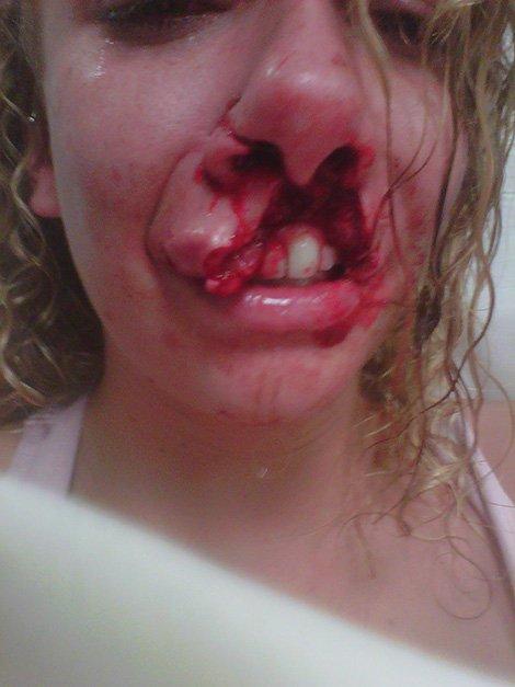 собака разорвала рот