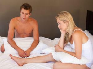 Половой член падает во время секса