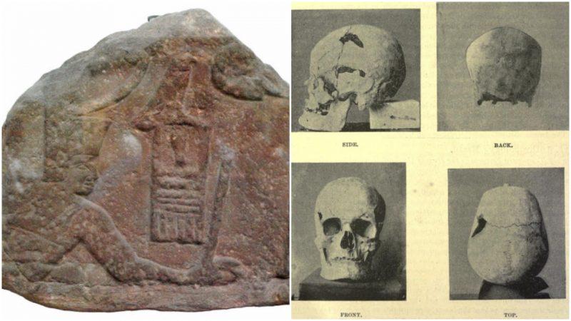 Санахт - череп и резьба на камне