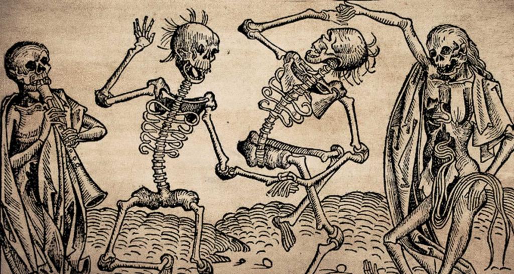 средневековое искусство на тему чумы