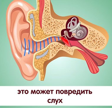 это может повредить слух