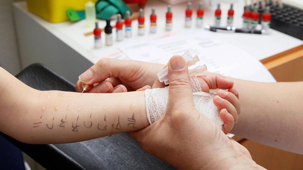 тест на аллергию у ребенка