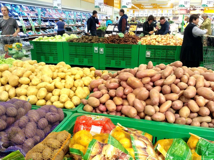 картофель в Глобусе