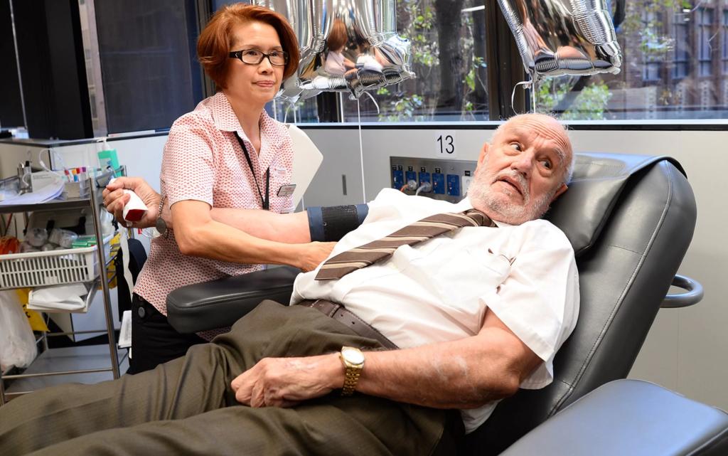 Джеймс Харрисон последний раз сдал кровь 11 мая 2018 года