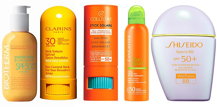 Biotherm, Clarins, Collistar, Lancaster, Shiseido