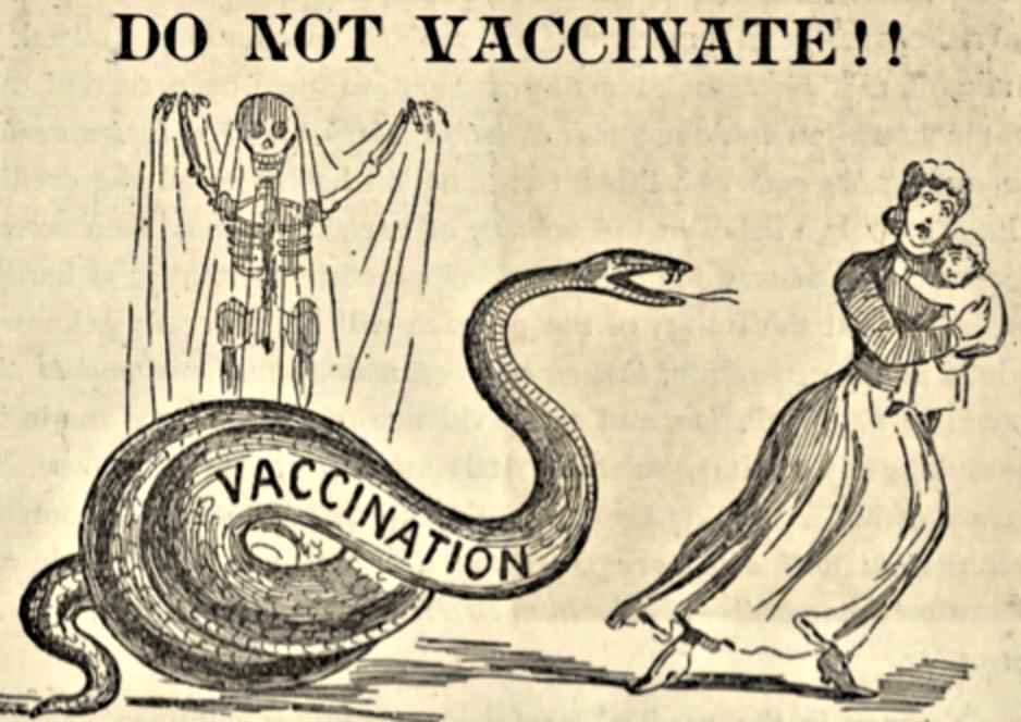 листовка против вакцинации